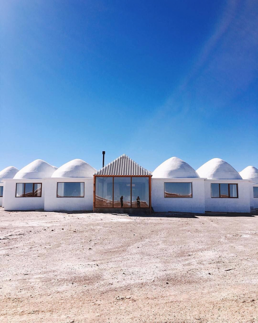 This is the first hotel in the world made from salt.